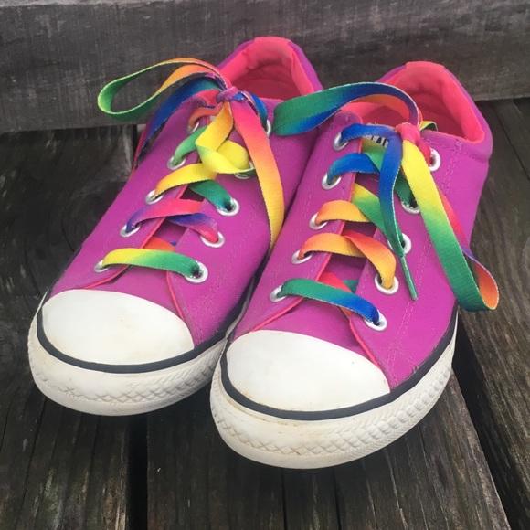 f92818e2a98 Purple All-Star Sneaker Rainbow Laces! GUC!
